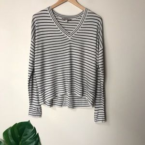 Athleta   V Neck Striped Retreat Sweater XS